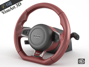 3d audi steering wheel