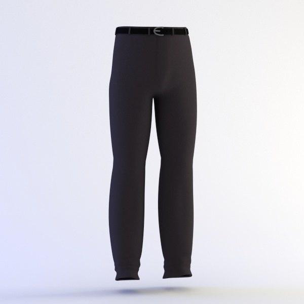 3d model pants belt