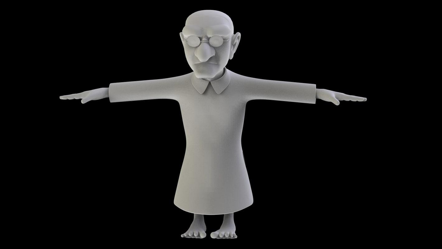 3ds max character cartoon