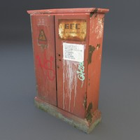 old electric box obj