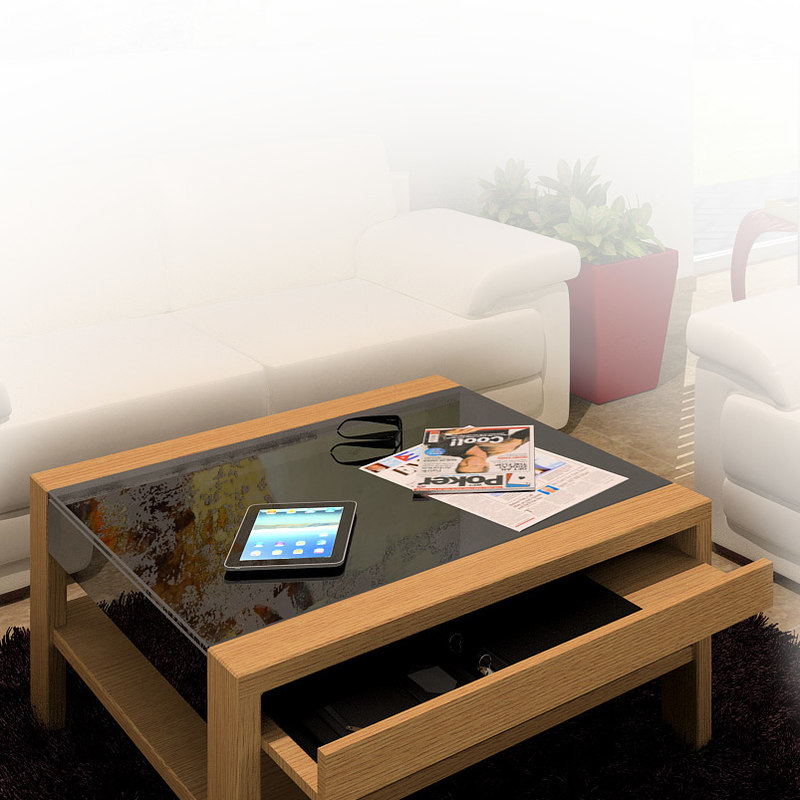 hulsta coffee table 3d 3ds