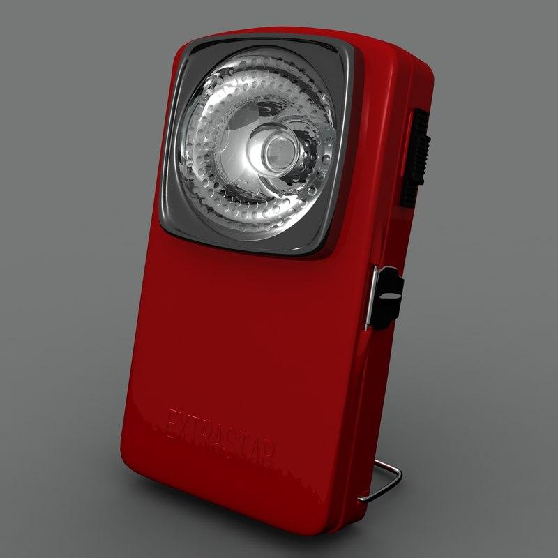 vintage battery lantern obj free