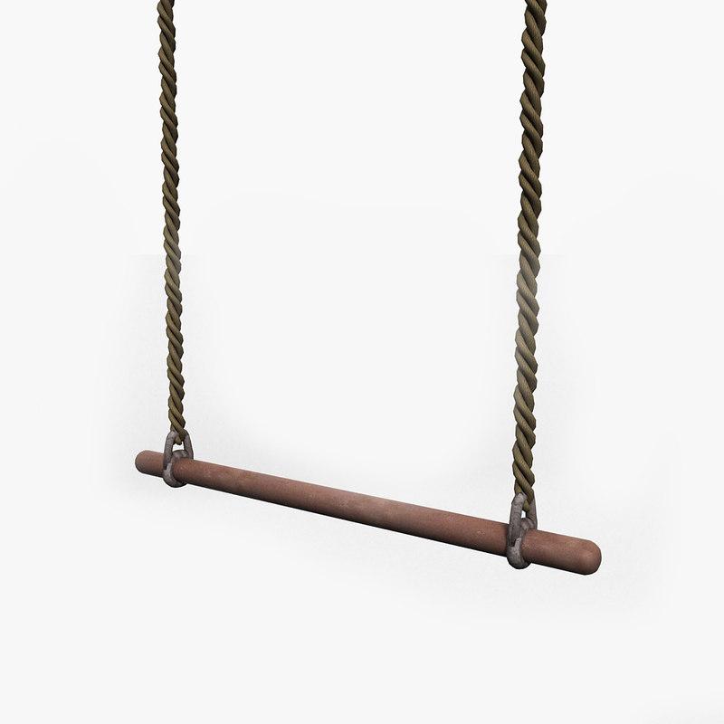 3d model gymnastic trapeze gym