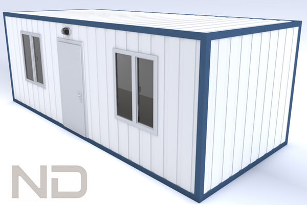 3d 3ds house shipping container