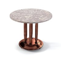 3d obj coffee copper table