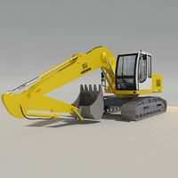 3d model liebherr excavator