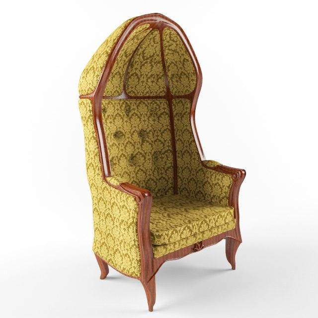 3d chair hood model