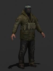3d military human