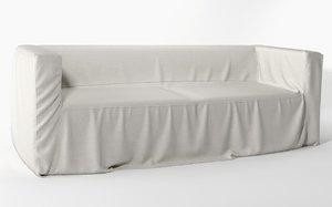realistic cover sofa 3d max