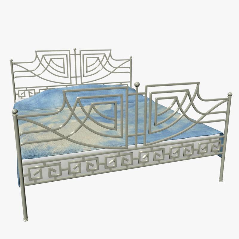 3d model bed iron