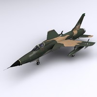 3d thunderchief f-105d hanoi model