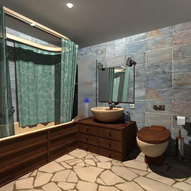 bathroom scene obj
