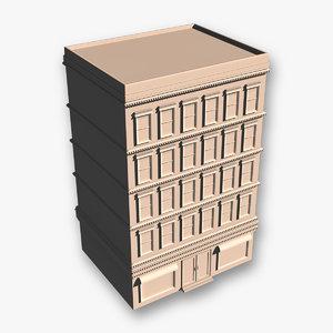 apartment building obj