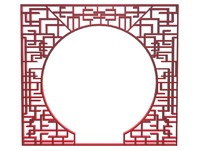 Chinese Round Doorway