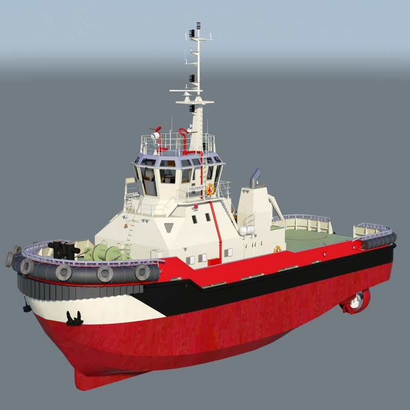 colossus harbor tug 3d model