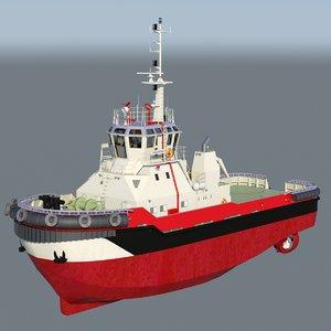 colossus harbor tug 3d model