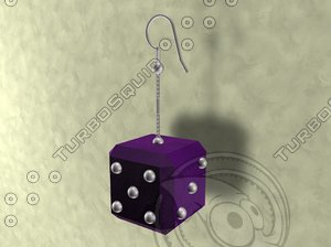 dice earrings accessories 3ds