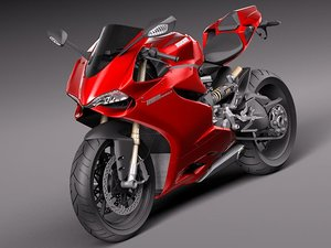 ducati 1199 panigale sport bike 3d model