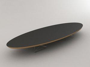 vitra elliptical table 3ds