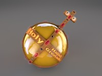 free holy hand grenade 3d model