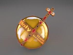 free holy hand grenade 3d model