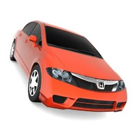 door honda civic 3d model
