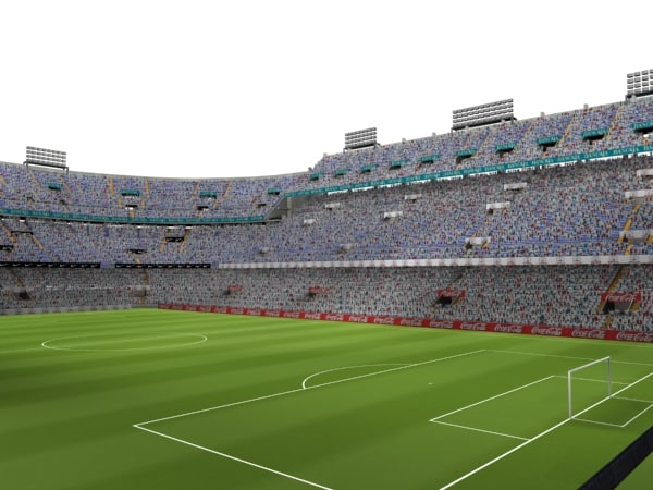 mestalla stadium audience 3d model