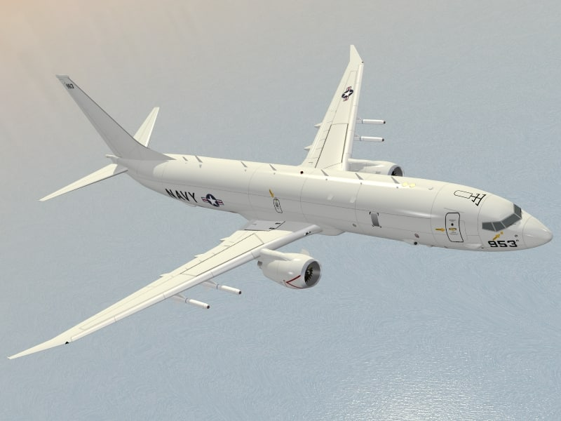 multimission aircraft p-8a poseidon dxf
