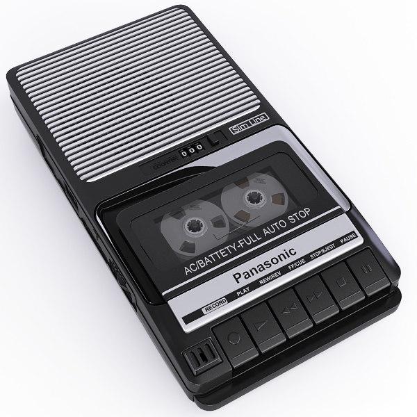 3d panasonic rq-2102 portable cassette model