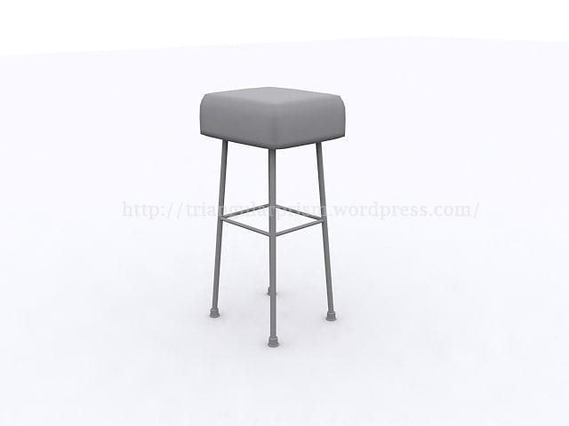 3dsmax kitchen stool