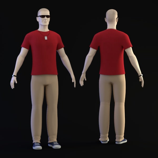 3dsmax peter casual clothes character