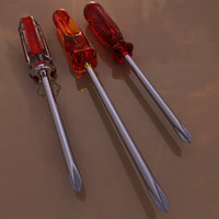screwdrivers pack 3d model