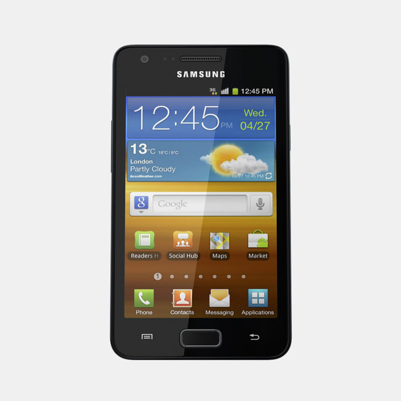 samsung galaxy r mobile phone 3d model