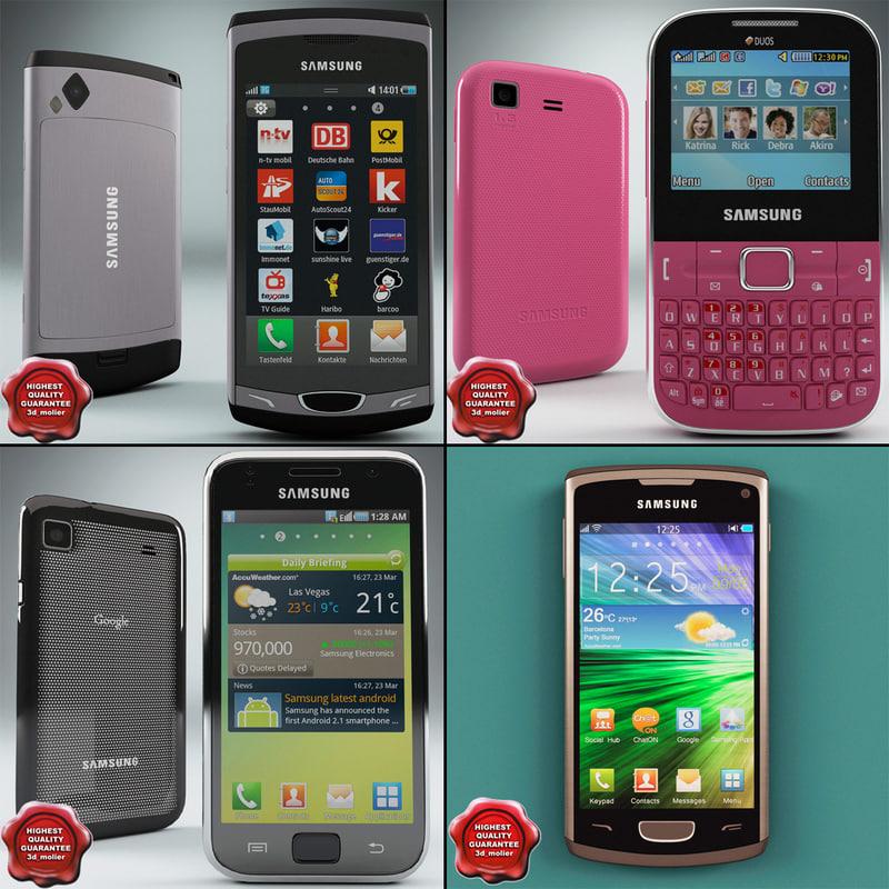 3d model samsung phones v3