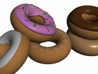 icing doughnuts obj