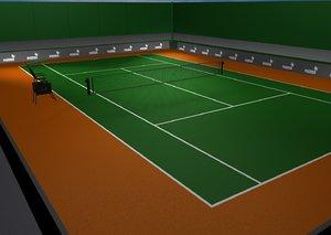 tennis court 3d c4d