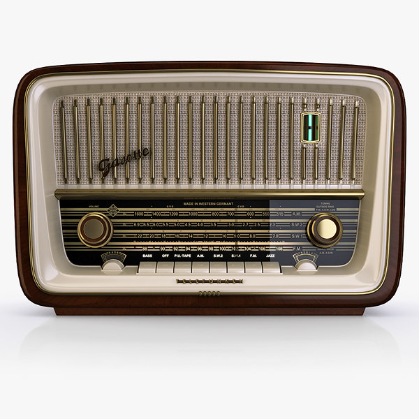 3d model vintage radio telefunken gavotte