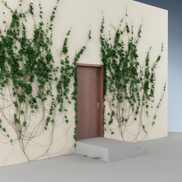 ivy wall doors 3d max