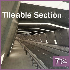 3d urban tunnel section model