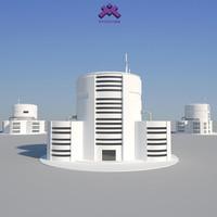 3d modern industrial building