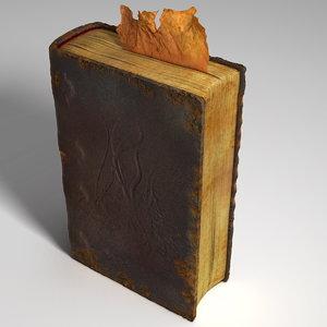 rotten book 3d obj