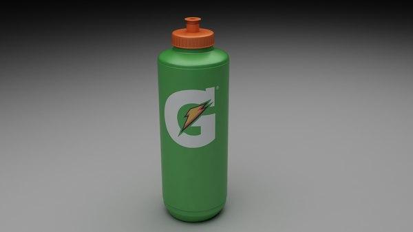 gatorade bottle 3d model