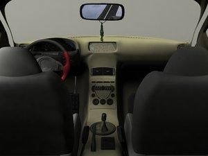 car interior 3ds