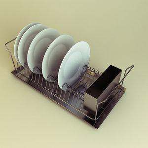 3d model dishes rack