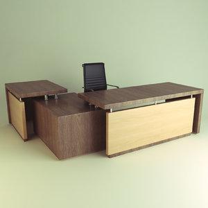 office chair desk 3d model