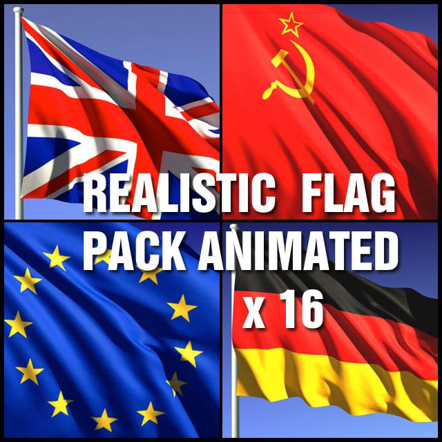 ma flag animation