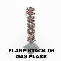 3d flare stack gas 06