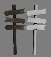 Western Wooden Signpost