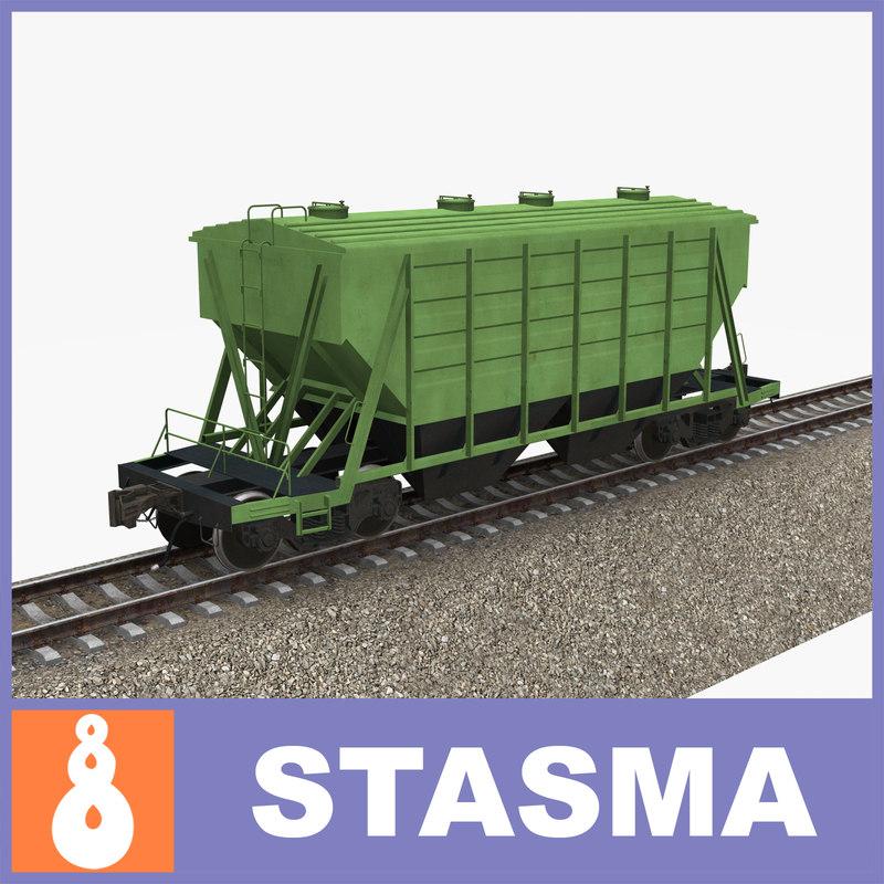 3d russian hopper railway