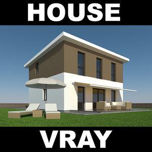 3d model house garden furniture